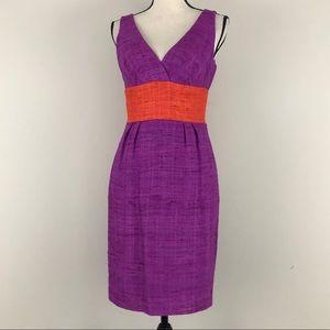 Trina Turk Nubby Silk Sheath Dress